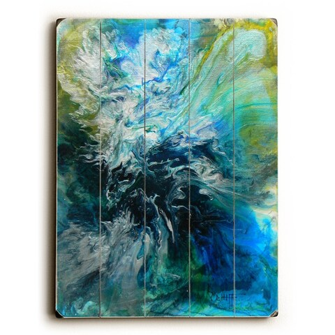 Troubled Waters - 9x12 Solid Wood Wall Decor by Carol Schiff - 9 x 12