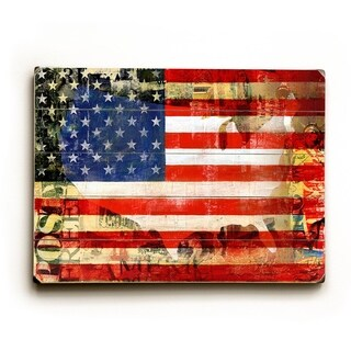 USA Flag - 9x12 Solid Wood Wall Decor by Cory Steffen - 9 x 12