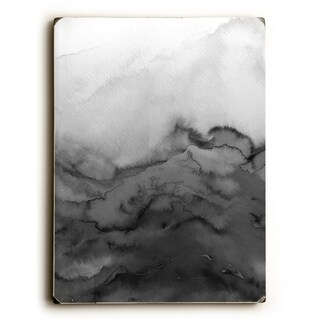 Winter Waves Greyscale - Gray 9x12 Solid Wood Wall Decor by Julia Di Sano - 9 x 12