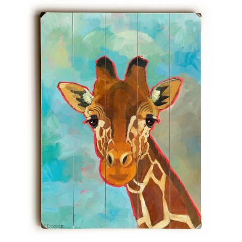 Giraffe - 9x12 Solid Wood Wall Decor by Ursula Dodge - 9 x 12