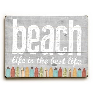 Beach Life -  9x12 Solid Wood Wall Decor by Cheryl Overton - 9 x 12