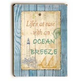 Beach Notes -  9x12 Solid Wood Wall Decor by Jean Plout - 9 x 12
