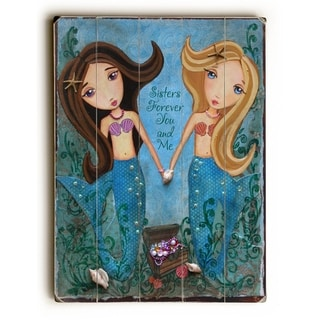 Sisters Forever You and Me - 9x12 Solid Wood Wall Decor by  Heather Rushton - 9 x 12