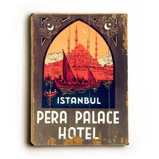 Istanbul Pera Palace Hotel - 9x12 Solid Wood Wall Decor by Laughing Elephant - 9 x 12