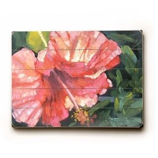 Hawaiian Florals -  9x12 Solid Wood Wall Decor by Carol Schiff - 9 x 12