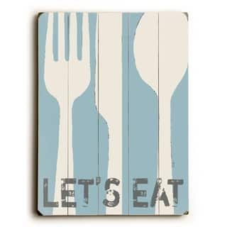 Let's Eat - 9x12 Solid Wood Wall Decor by Lisa Weedn - 9 x 12