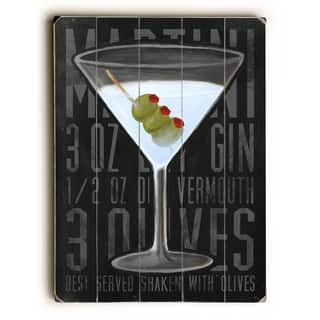 Martini - 9x12 Solid Wood Wall Decor by Cory Steffen - 9 x 12
