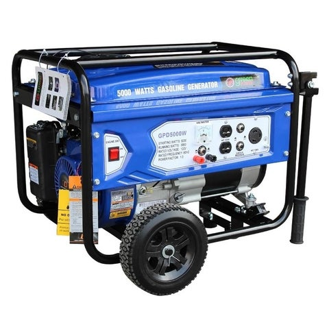 Green Power 5000-Watt Gas Powered Portable Generator with LCT Engine - N/A