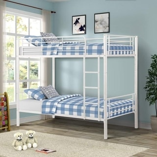 Link to Porch & Den Alder Kids Toddler Metal Twin over Twin Bunk Bed Similar Items in Kids' & Toddler Beds