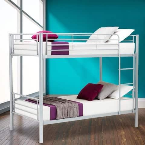 Porch & Den Alder Kids Toddler Metal Twin over Twin Bunk Bed