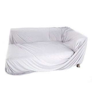 Spandex 2 Seats 3 Seats L-shaped High Elasticity Sofa Covers Gray