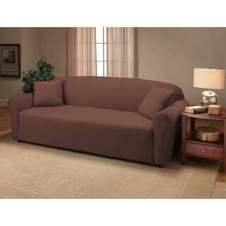 Stretch Slipcover 3-Seat Sofa Cover Chocolate