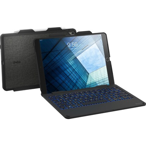 "ZAGG Slim Book Keyboard/Cover Case for 10.5"" iPad Pro - Black"
