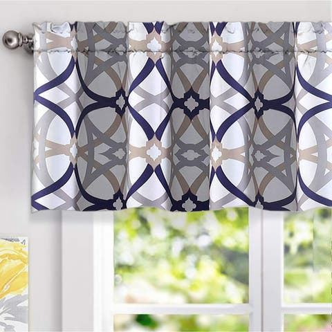 Carson Carrington Jarvenpaa Geo Trellis Pattern Window Valance