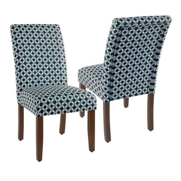 Shop HomePop Classic Parsons Dining Chair - Indigo Lattice ...
