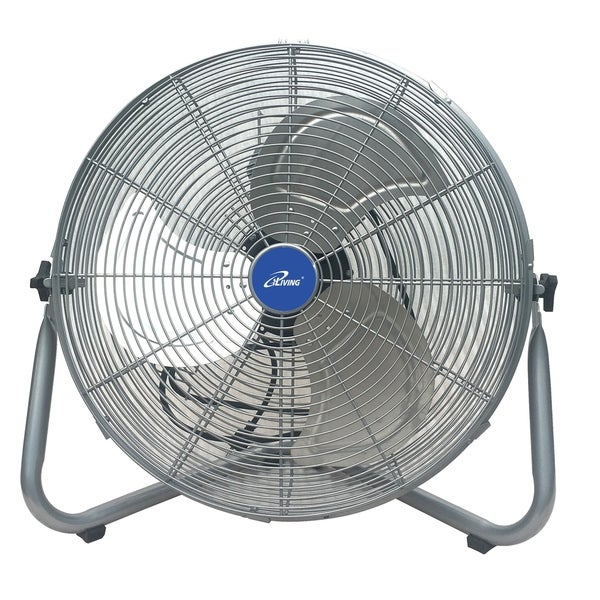 iLiving 20 Inch Super Turbo High Velocity Floor Fan 7500CFM, 225 Watt  Motor, Silver