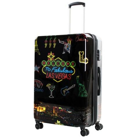 AGT Las Vegas 28-inch TSA Expandable Spinner Suitcase Luggage
