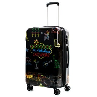 AGT Las Vegas 24-inch TSA Expandable Spinner Suitcase Luggage