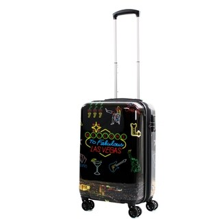 AGT Las Vegas 20-inch Carry-On Expandable Spinner Suitcase Luggage