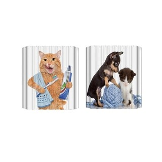 Animal Printed Waterproof Shower Curtain Mildewproof Polyester Bathing Curtain