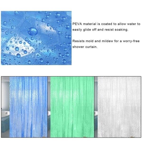 PEVA 3D Translucence Resists Mold Bathing Shower Bathroom Curtain 180180cm