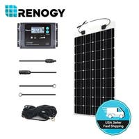Renogy 100 Watt 12V Solar Panel Kit + 20A Waterproof LCD Charge Controller + TS