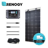 Renogy 160 W 12 Volt Solar Panel Kit + 20A Waterproof LCD Charge Controller + TS