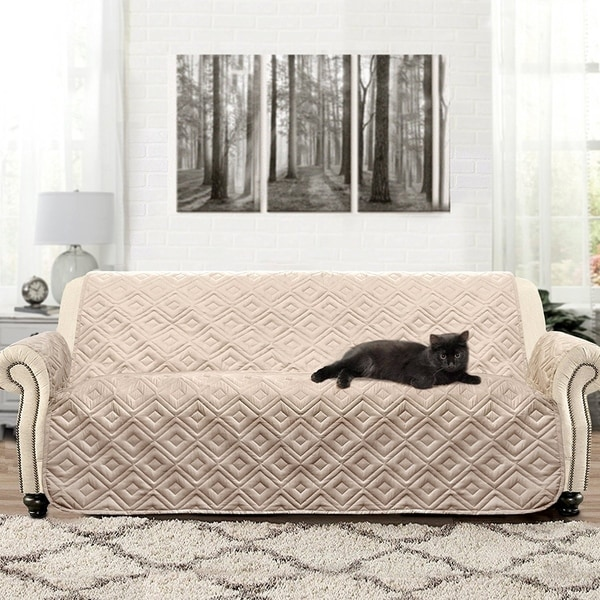 Bon DriftAway Marley 100% Waterproof Quilted Machine Washable Sofa Furniture  Protector