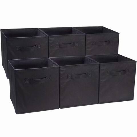 6pcs High Quality Non-woven Fabrics Storage Boxes Black