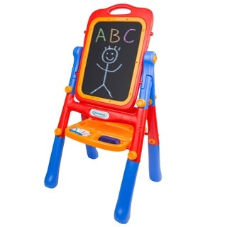 Deluxe Double-Sided Children's Art Easel - Red