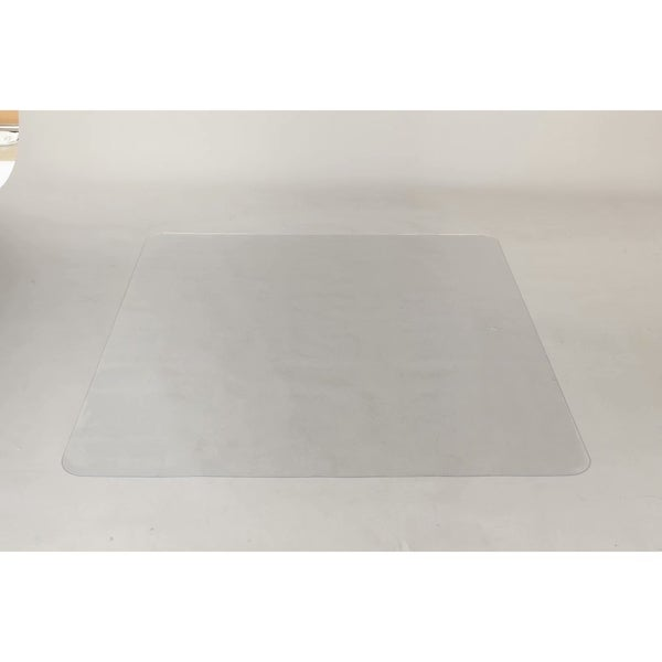 PVC Rectangle Matte Floor Protection Mat Chair Mat Transparent - 8'