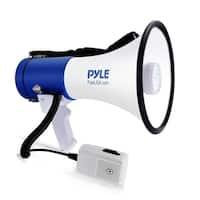 Pyle PMP51LT Megaphone Speaker with Built-in LED Lights - PA Bullhorn with Siren Alarm Mode & Adjustable Volume Control
