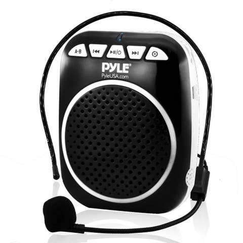Pyle PWMA55 Compact & Portable PA Speaker System, Voice Amplifier & Microphone Headset with Built-in Rechargeable Battery