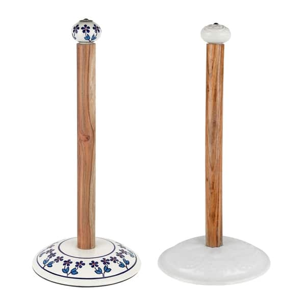 Keister Hand Painted Free Standing Paper Towel Holder Overstock 22575755