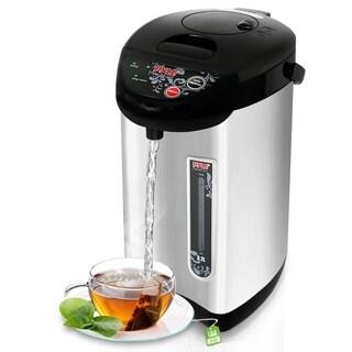 NutriChef PKWK43 Electric Hot Water Tea Kettle Food Grade Inner Pot Quarts-Keep Auto Boiler Shut, Stainless Steel