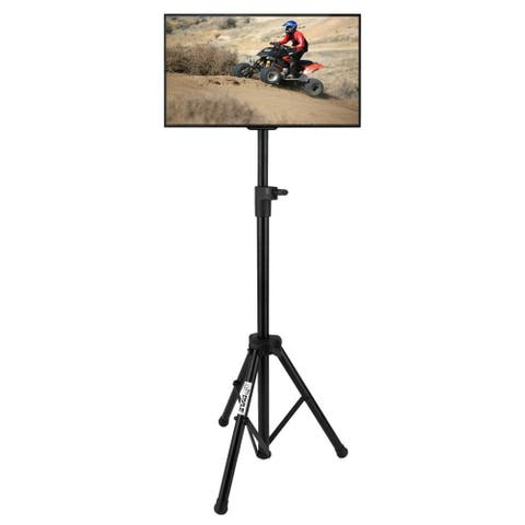 Portable Tripod TV Stand - Television LCD Flat Panel Monitor Mount