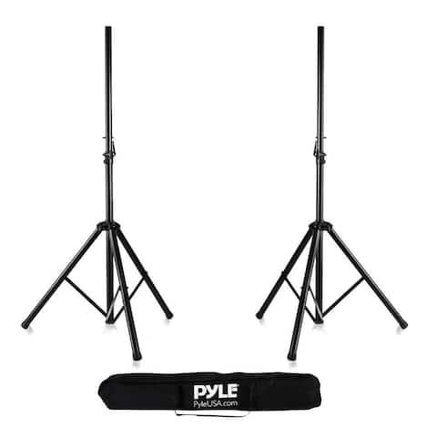 Pyle PSTK107 Dual Universal Speaker Stand Mount Holders, Height Adjustable