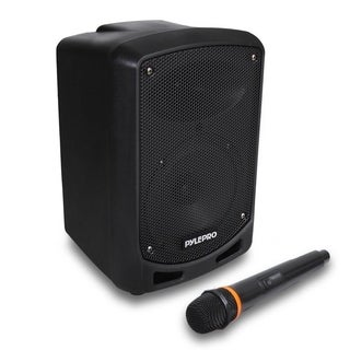 Pyle PSBT65A Bluetooth Karaoke PA Speaker Indoor Outdoor Portable Sound System with Wireless Mic, Rechargeable battery