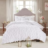 Madison Park Noreen White 100-percent Polyester Microfiber Ruffled Comforter Set