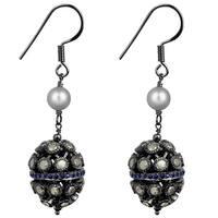 Jeweltique Designs 925 Sterling Silver 8.64 Carat Diamond & Pearl Earrings