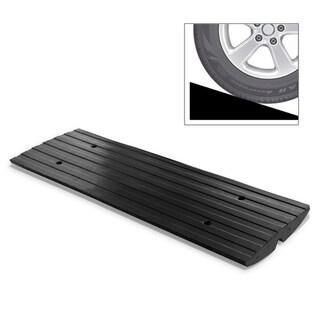 Pyle PCRBDR23 Car Driveway Curb Ramp Heavy Duty Rubber Threshold Ramp