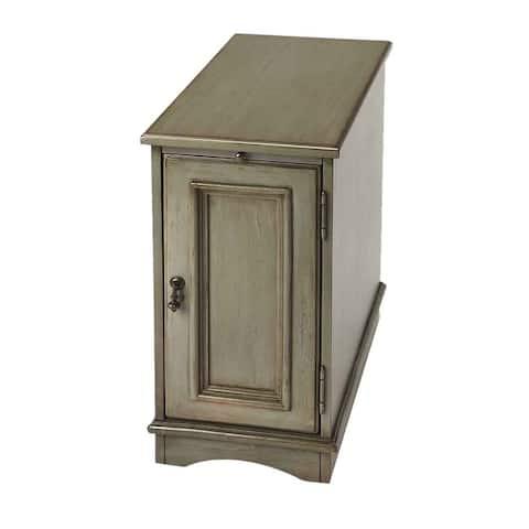 Butler Harling Silver Satin Solid Hardwood End Table