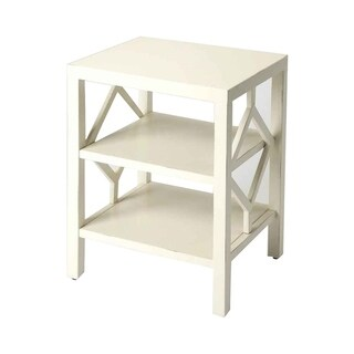 Butler Halcyon Solid Wood White End Table