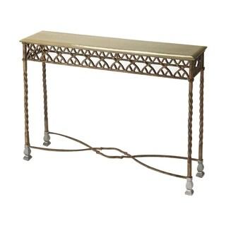 Butler Priscilla Platinum Iron Distressed Console Table