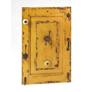 Butler Neely Rustic Yellow Wall Mount Rectangular Hook Rack