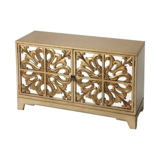 Butler Aphrodite Mahogany Champagne Sideboard - Gold