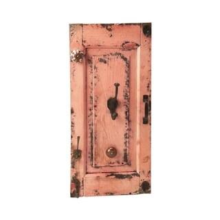 Butler Neely Rustic Pink Wall Mount Rectangular Hook Rack