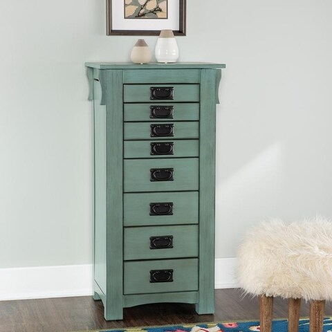 Delaney Jewelry Armoire Teal