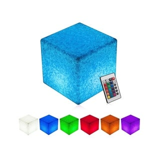 INNOKA Rechargeable Waterproof Floating LED Cube Light Glowing Light w/ Multiple Lighting Effects for Outdoor Pool Parties