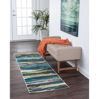 Alise Rugs Montez Contemporary Stripe Runner Rug - 2'3 x 11'